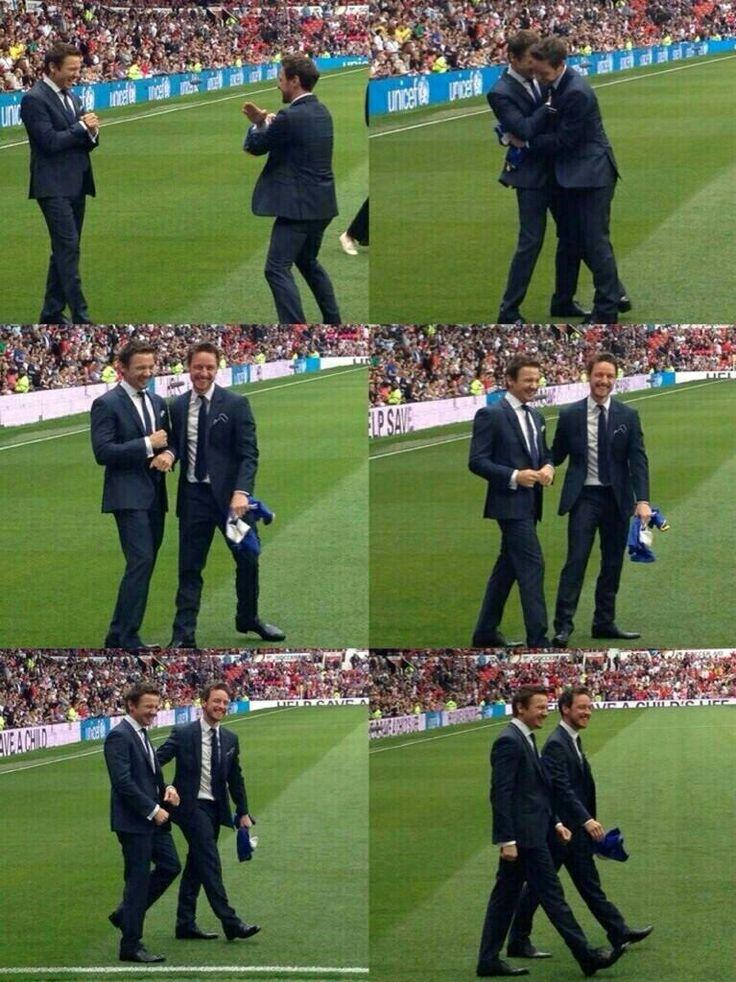 Jeremy RennerJames McAvoy  / Soccer Aid 2014