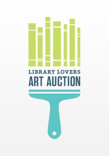 Library Lovers Art Auction logo by The Infrantree eb- i love the way the design displays two things in one object. the combination of cool colors makes the design inviting to the viewer.