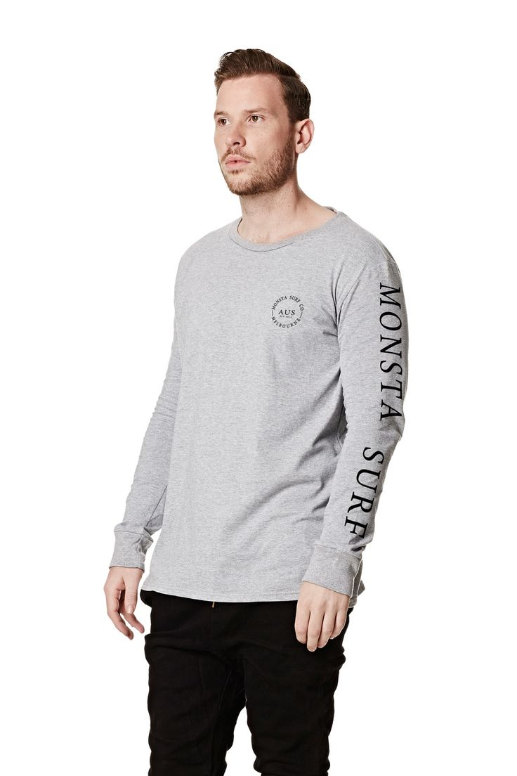 Mens Worldwide LS Tee Grey Heather from Monsta Surf