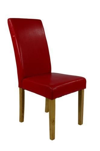 Red Leather Dining Room Chairs Esszimmerstühle Leather Dining