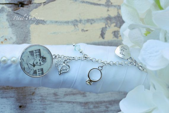 Bridal Bouquet Charm Something Blue Bouquet by PetalWhispers