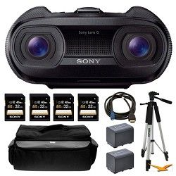 Image of Sony DEV-50 25x Zoom Full HD 3D Digital Recording Binoculars and Memory Card Bundle
