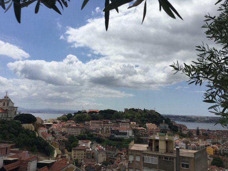 Lissabon näköalapaikalta kuvattuna