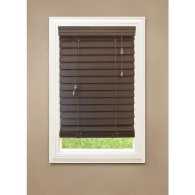 Espresso Premium Faux Wood Blind, 2.5 in. Slats (Price Varies by Size)