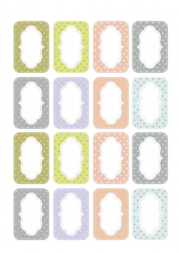 Color labels for mason jars - free printable