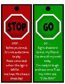 stop and go door signs for neighbor kids