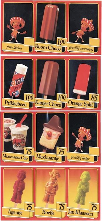 jaren '80 ijsjes. de prikkebeen was mijn favoriet maar het agentje was ook niet verkeerd.