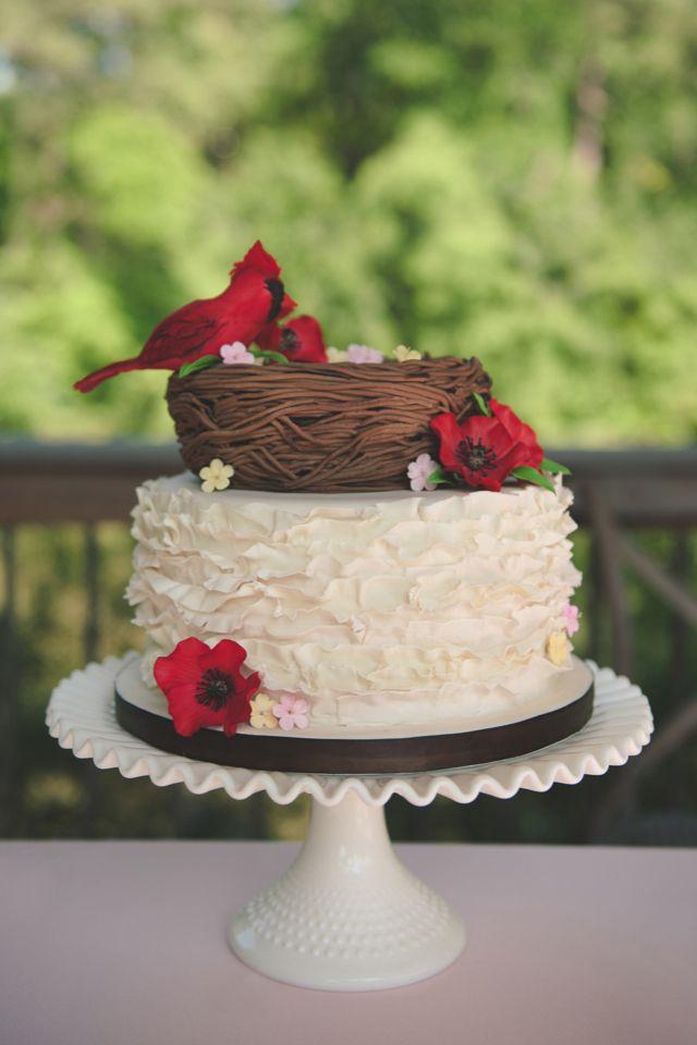 Cardinal Wedding Cake / Bit of Ivory Photography