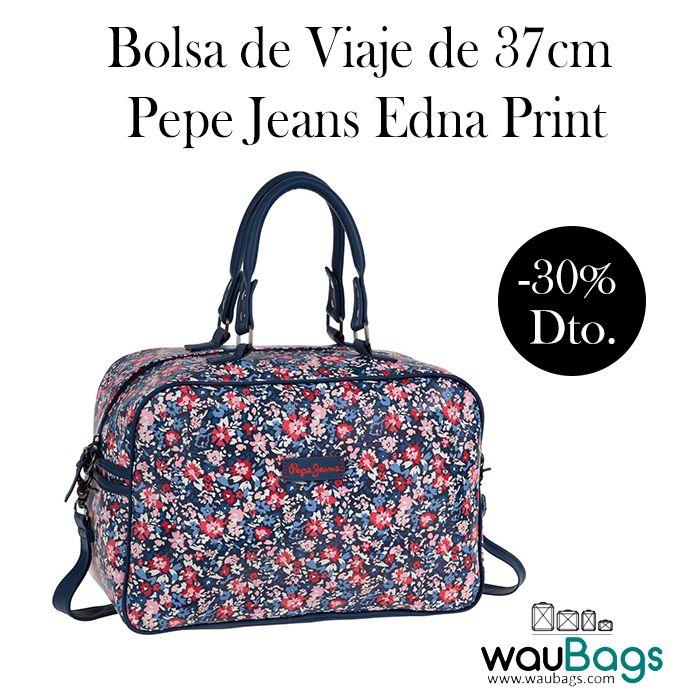 Práctica Bolsa de Viaje Pepe Jeans Edna Print, perfecta para tus escapadas cortas o para llevar tus artículos de uso diario, ahora por tan solo 34,95€!!  Con un compartimento principal con cierre de cremallera y un bolsillo exterior en el lateral.  Dispone de 2 asas cortas y correa desmontable y ajustable para llevar la bolsa sobre el hombro o en bandolera. @waubags #pepejeans #bolsa #viaje #escapadas #diario #oferta #descuento #rebajas #waubags