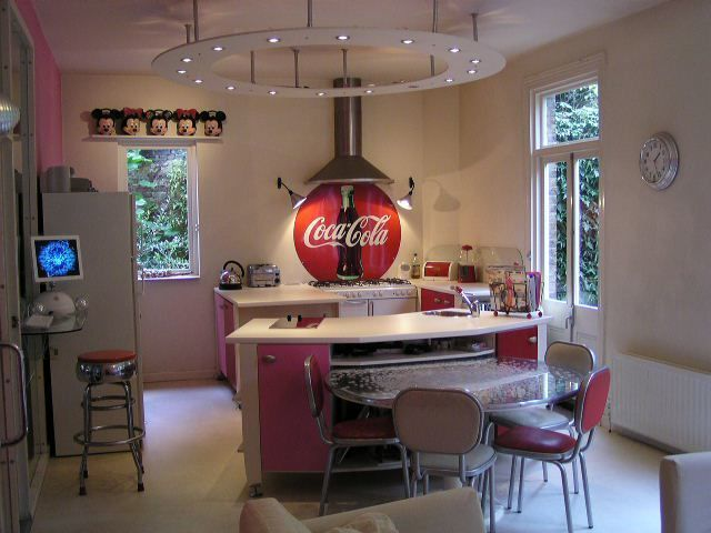 Easy Kitchen With Excellent Interior Home Inspiration With 50s Diner Kitchen