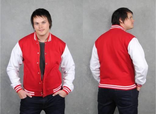 Red White Baseball Jacket
