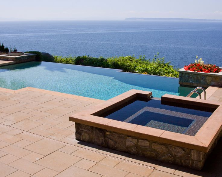 Weu0027re Taken By The Seamless Pool/spa Design And Absolutely Loving This  View. Pool ConstructionSwimming Pool DesignsBest ...