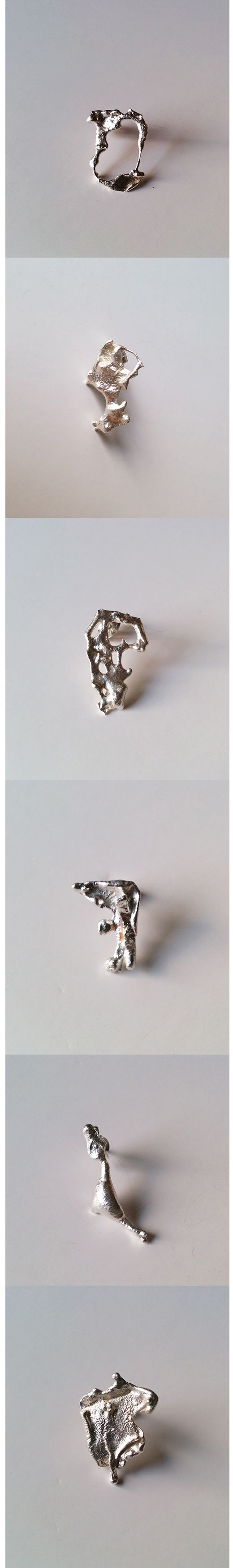 Silver ART earrings hand-crafted by Riot Shapes http://riotshapes.bigcartel.com/