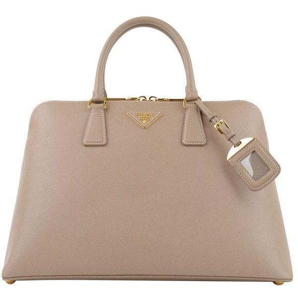 PRADA Medium Saffiano Leather Bugatti Bag ($1,835) ❤ liked on Polyvore