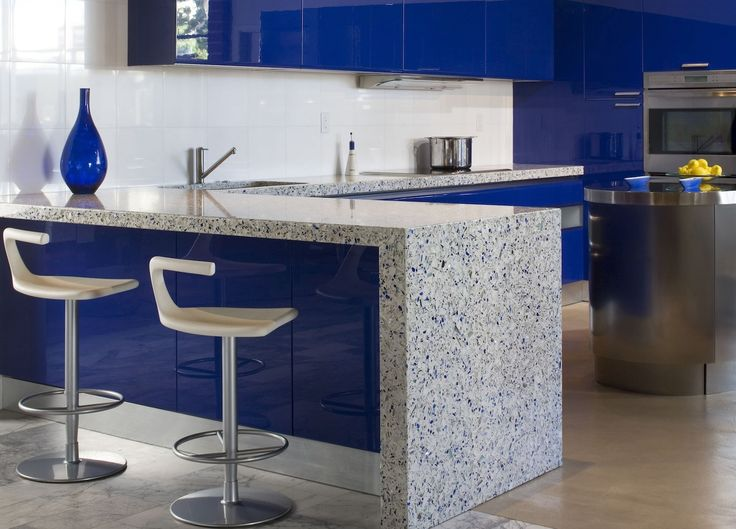 Most Popular Types Kitchen Countertops Materials Hgnv View Gallery Blue  Quartz. Blue Kitchen CountertopsRecycled Glass ...