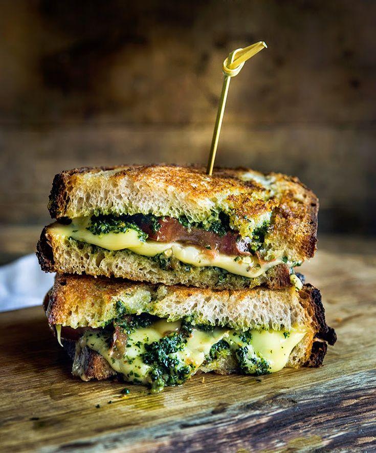 Kale Pesto, Tomato, Prosciutto, and Avocado Cheese Recipe, Sandwiches ...