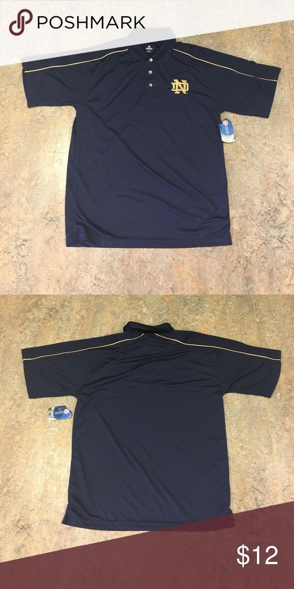 New Notre Dame Fighting Irish Polo Shirt Medium Brand new with tags Notre Dame Irish knights apparel men's polo shirt size medium. 100% polyester knights apparel Shirts Polos