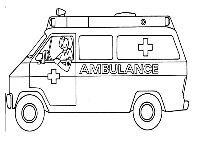 coloring pages ambulance - photo#3