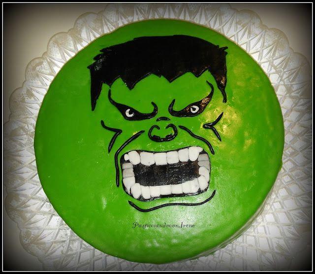 Pasticciando con Irene: Torte decorate da me - Torta Hulk