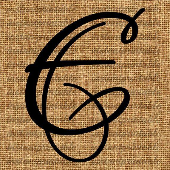 Monogram  Initial Letter E Letter Clip Art by InstantPrintable, $1.80