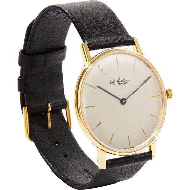 18K Gold Watch by Ole Mathiesen | Watches | Pinterest | Gold watches, 18k gold and Watches