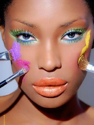 Google Image Result for http://1.bp.blogspot.com/-teY4_v289g4/T_Z5xBcRnLI/AAAAAAAABig/Q7mqs3F7YJU/s1600/the_best_makeup_for_dark_skin.jpg: Colors Makeup, Eye Makeup, Bright Colour, Summer Makeup, Makeup Tips, Africans American, Makeup Looks, Dark Skin, Bright Colors