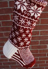 Ravelry: Falling Snow Stocking pattern by Jennifer Hoel