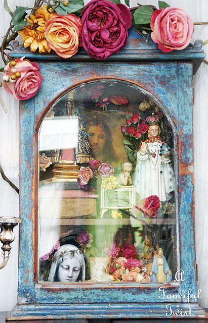 So many ideas!! Boho inpiration. (Saints and Flowers 12 by A Fanciful Twist, via Flickr)