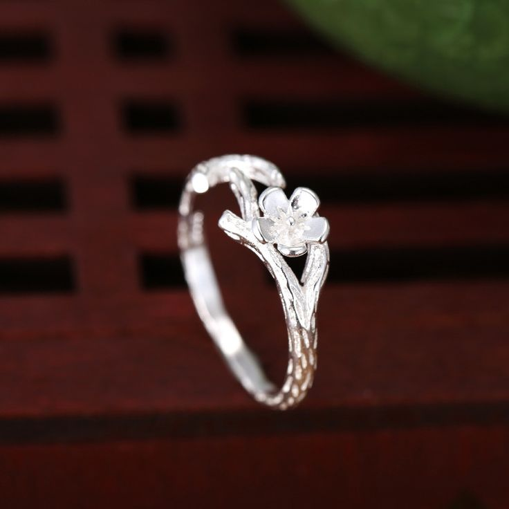 925 Sterling Silver Rings For Women Fashion Flowers Tree Branches Open Ring Hypoallergenic Sterling Silver Jewelry