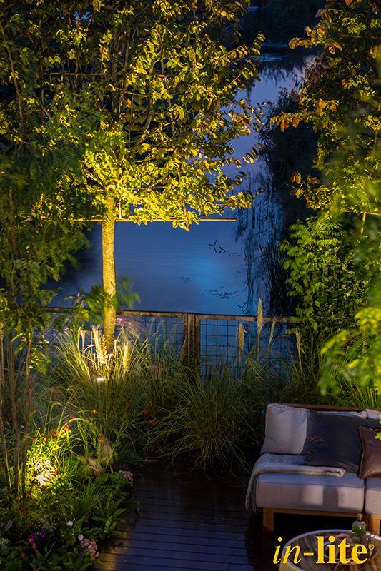 Luxe familietuin eigen huis tuin tuinverlichting 12v buitenspots tuininspiratie