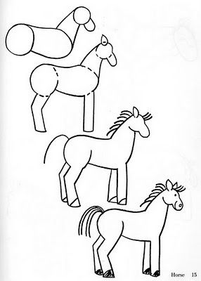 Today's Drawing Class 101: How to draw animals || how to draw a horse