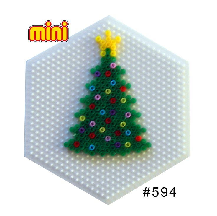 Christmas tree Hama mini perler pattern