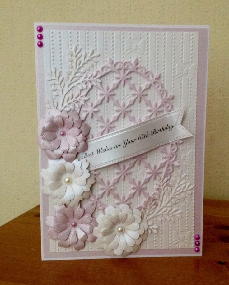 60th Birthday Card Made Using Heartfelt Creations