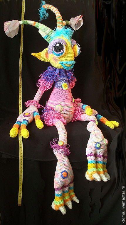 МК Галямбик- инопланетянин. Авторская работа вязания игрушки - инопланетянин