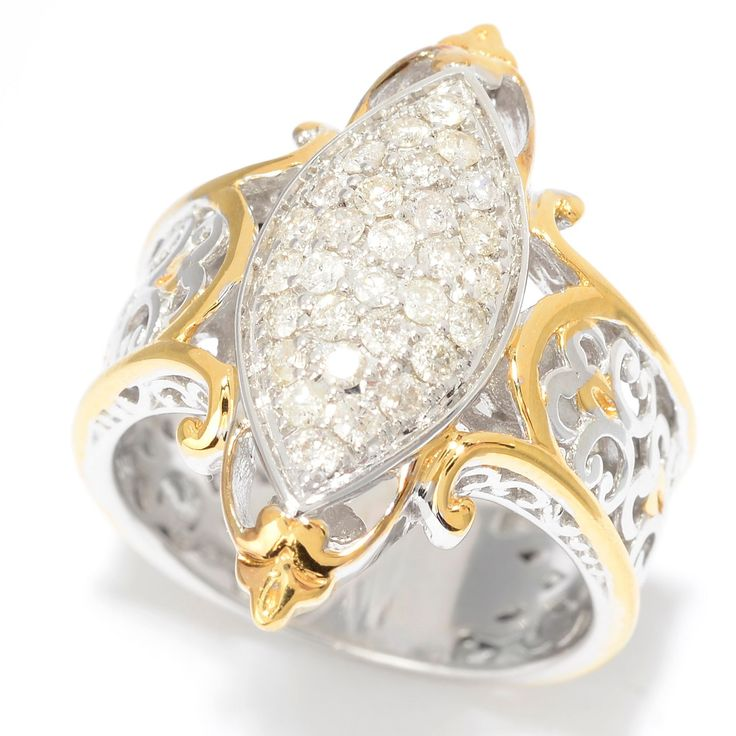 162-411 - Diamonds en Vogue 0.45ctw Diamond Marquise Shaped Cluster Ring