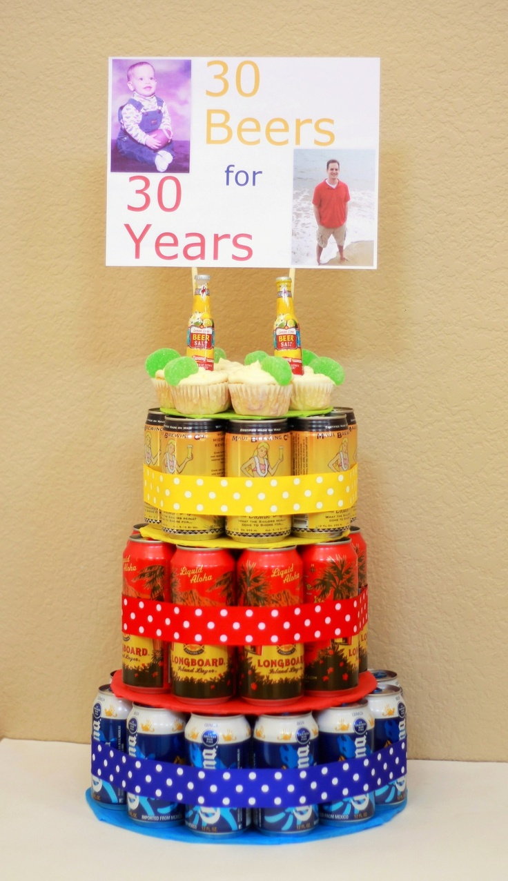 Beer Can Cake--30 Beers for 30 Years!