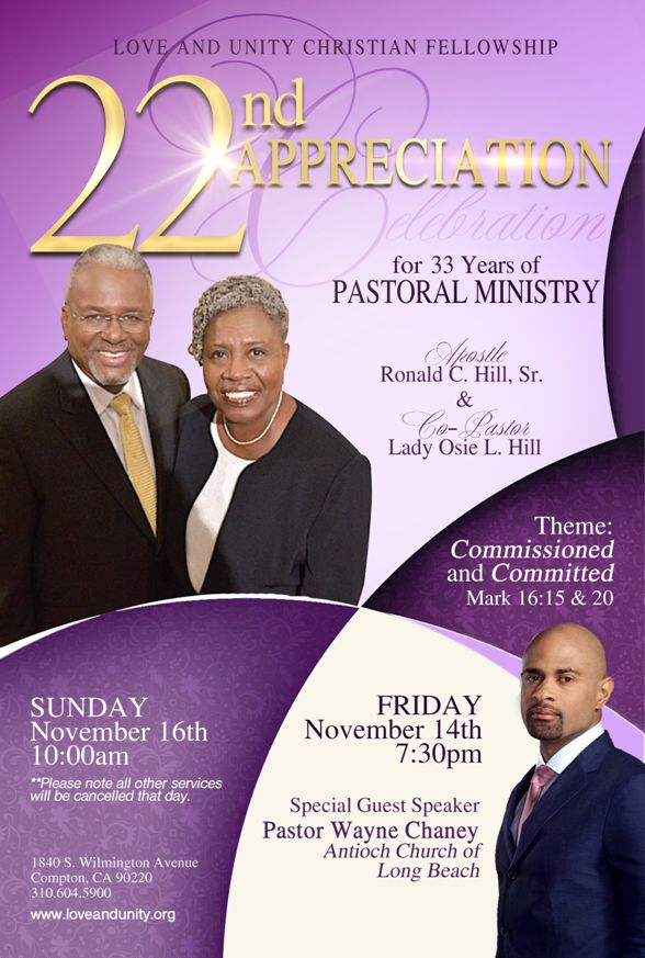 Love And Unity Christian Fellowship 22nd Appreciation