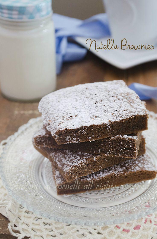 nutella brownies velocissimi senza burro, senza latte, con solo 3 ingredienti facili