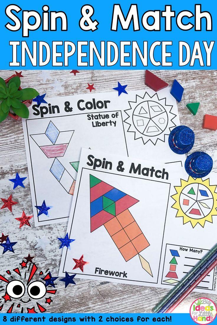 Pattern Blocks Mat Independence Day Math Center Math Centers Pattern Blocks Preschool Activities [ 1104 x 736 Pixel ]