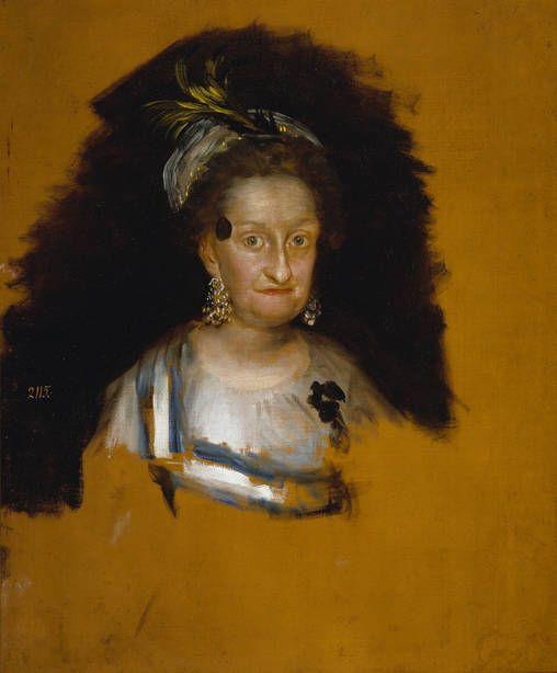 Francisco de Goya – María Josefa de Borbón y Sajonia, infanta de España, 1800, Óleo sobre lienzo, 72x59 cm (estudio) | Museo del Prado, Madrid