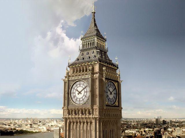 Биг бен в Лондоне Англия