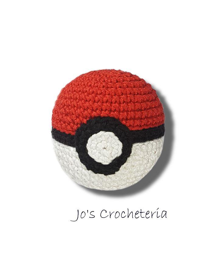 Free Crochet Pattern Pokemon Pokeball by Jo's Crocheteria #freecrochet #freecrochetpattern #crochetpatternsfree #crochetfreepattern #crochetdesigns #easycrochetpatterns #patternsforcrochet #freeeasycrochetpatterns #allfreecrochet #crochetideas #simplecrochetpattern