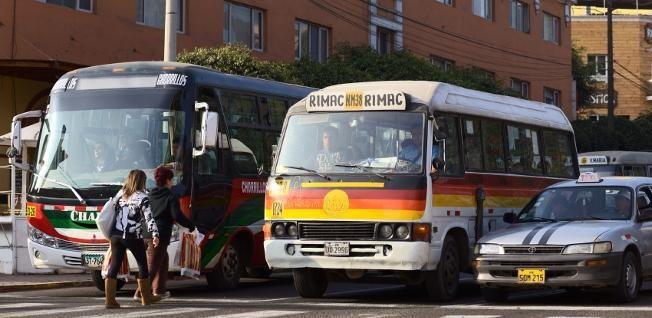 Peru travels by bus.