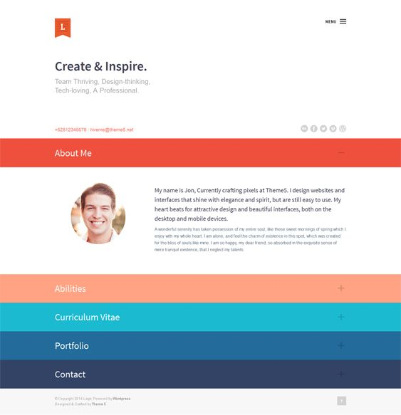 13 best 13 More of the Best Free \ Premium CV, vCard, \ Resume - wordpress resume theme