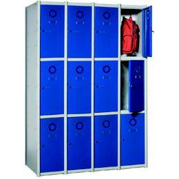 Taquillas Serie 3 con 4 columnas, 3x4 = 12 puertas https://www.esmelux.com/taquillas-serie-3-con-4-columnas-3x4-12-puertas
