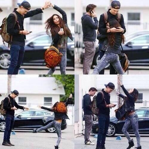 Vanessa Hudgens and Austin Butler. Vanessa is me if I ever get a boyfriend XD