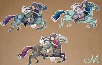 I used glitter on the horses' hair.