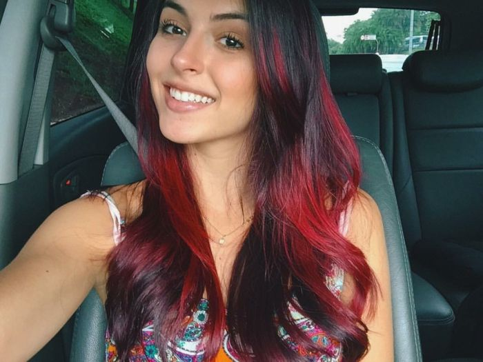 25 best ideas about couleur rouge bordeaux on pinterest burgundy couleur couleur de cheveux - Cheveux reflet rouge ...