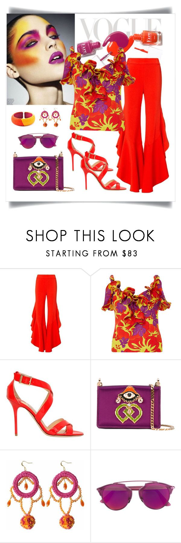 """Rosie Assoulin Blooming Onion Top Look"" by romaboots-1 ❤ liked on Polyvore featuring Roksanda Ilincic, Jonathan Simkhai, Rosie Assoulin, Jimmy Choo, Dsquared2, Ricardo Rodriguez, Christian Dior and DANNIJO"