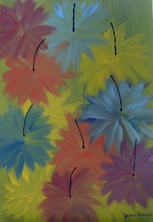 Rosella Namok  Thuluu  2012  Synthetic Polymer Paint on Belgian Linen  92 x 62 cm  $3,000 AUD
